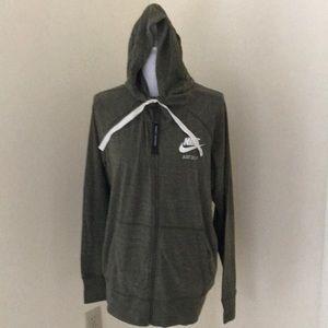 NWT! Nike women's 1X moss Green Zippered hoodie